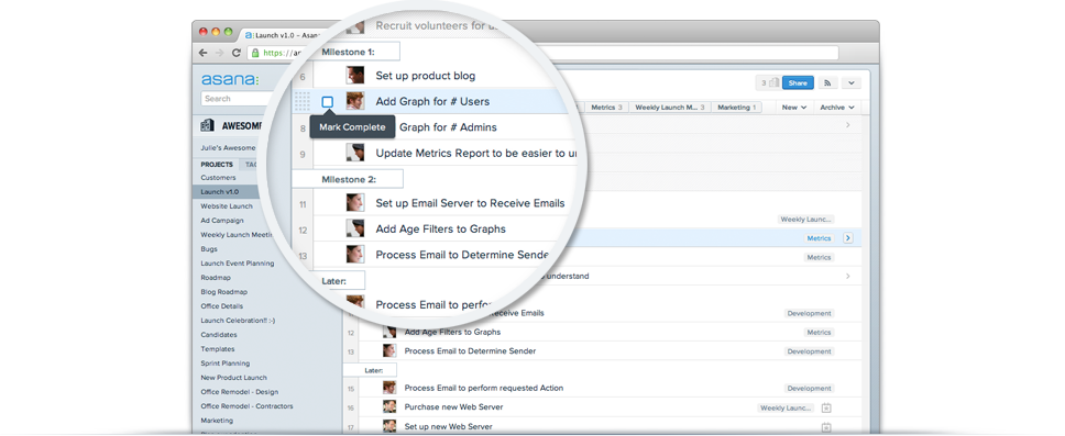 Asana screenshot