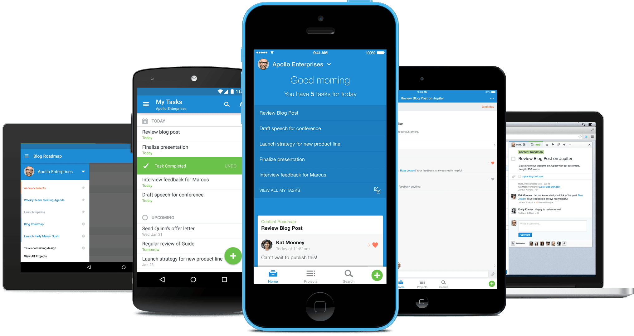 Asana for iOS, iPad and Android screenshot